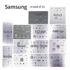 Stencil for samsung series 13pcs/set note2/3/4/6 9300 I9100 I9000 S3 S4 S5 S6 S6 edge S7 edge