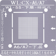 BGA stencil WL For iPhone A6 A7 A8 A9 A10 A11 A12 CPU BGA Reballing Tin Net Stencils With Magnetic Base Positioning Fixture