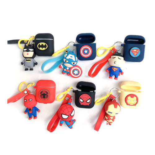 Apple Bluetooth Airpods1 Cover AirPods2 Silicone Cartoon Spider-Man Headphones Applicable