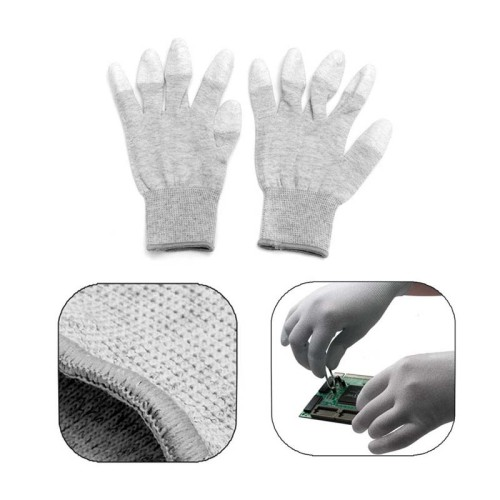 1Pair Anti Static Antiskid Glove PC Computer ESD Electronic Work Repair Gloves