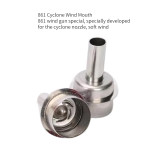 861 Rotating Air Nozzle Quickly making 861DW to 861X soft air from direct to rotate Cyclone Wind Mouth model : 8mm、10mm