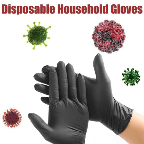 10 Boxes Disposable Rubber Latex Gloves Food and Beverage Thicker Durable Household Cleaning Gloves Mask Experimental Gloves