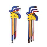 MECHANIC Long/Short Arm Ball Point Hex Key Set High Chrome Vanadium Steel Repair Tools Powerful Type
