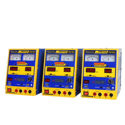 Mechanic DSP15D DC power supply 15V15A 4 digits display Ammeter adjustable for smart phone repair