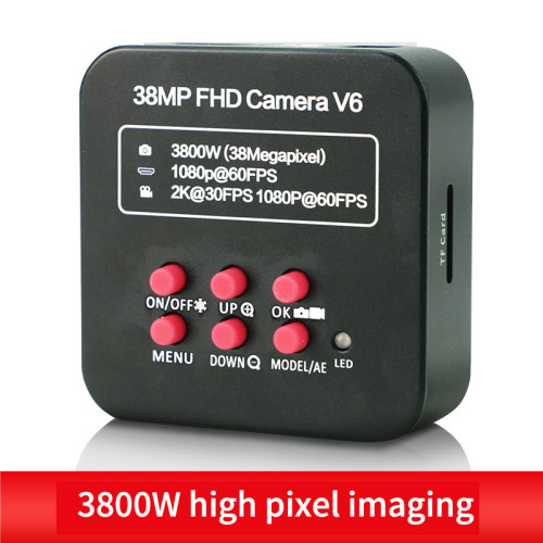 38MP FHD Camera V6 Stereo Microscope Camera Industrial Camera HDMI Interface HD Digital Microscope Camera Video Microscope
