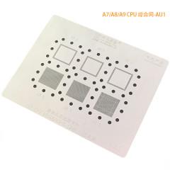 AMAOE AU1 A7/A8/A9 AU2 A10/A11/A12 iPhone CPU reballing stencil steel net mesh