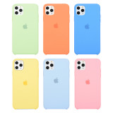 Offical silicone protective phone cases 3 side cover for iPhone models