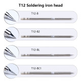 T12 Soldering Iron Tips for HAKKO T12 Handle LED Vibration Switch Temperature Controller FX951 FX-952 950