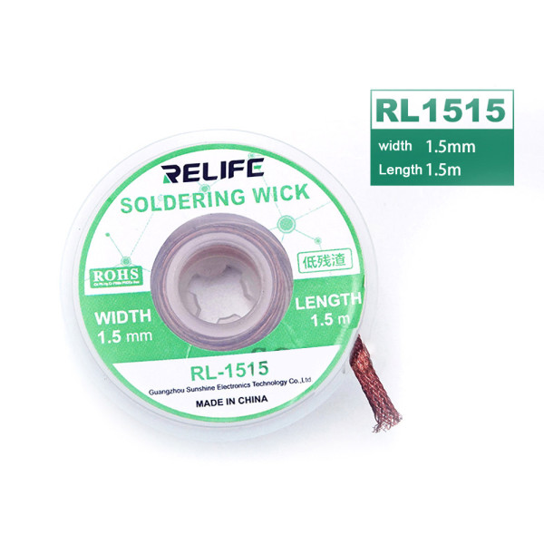 Relife Desoldering Wire Tin Suction Wire Braid BGA Tools For Precision PCB RMA Tin Remove Soldering Accessory Mainboard Clean Tin Wire