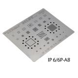 RL-044 iPhone Series Multi-purpose Plant Tin Steel Net 0.12MM Motherboard A8 A9 A10 A11 CPU BGA Reballing Planting Tin Net Repair Tools