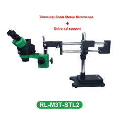 RL-M3T-STL2 7X-45X Simul-Focal Trinocular Zoom Stereo Microscope For PCB Soldering Repair Simul-focal Stereo Microscope