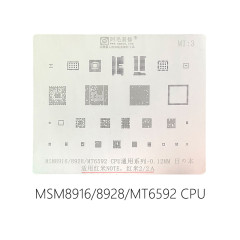 AMAOE MI3 MI:3 CPU universal series stencil MSM8916 MSM8928 MT6592 for Redmi Note Redmi 2 Redmi 2A reballing steel mesh 0.12MM
