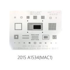 AMAOE MAC:1 SR23G CPU dedicated stencil for Macbook 2015 A1534 820-00045-A 0.12MM Apple laptop comprehensive reballing steel mesh MAC1