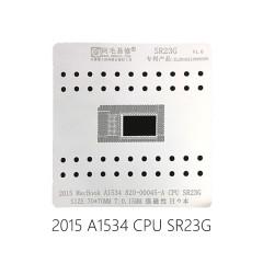 AMAOE SR23G CPU stencil for 0.15MM for Maxbook 2015 A1534 820-00045-A CPU SR23G reballing stencil 2015 MacBook A1534 position plate