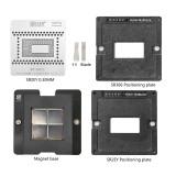 AMAOE MAC 6Gen SR2EY reballing stencil kit 0.30MM 6Gen SR2EY steel mesh / SR2EY position plate / magnetic base / SR666 position plate