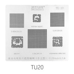 AMAOE TU:20 LCD TV reballing stencil  0.20MM TU20 for MSD6A600/SIS231/MST6M 182VG/0.65/0.8