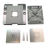 AMAOE iPhone magnetic BGA tin planting plate A7 A8 A9 A10 A11 A12 A13 A14 CPU  planting position plate board +0.10mm reballing stencil