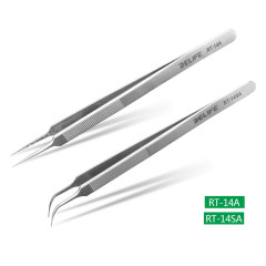 Relife RT-14A RT-14SA Mobile Phone Repair Tweezers Anti-static anti-slip clip high toughness precision fine tip plus chip repair