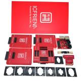 2020 NEW ICFRIEND E-mate X EMMC BGA 13 IN 1 socket Support BGA100/136/168/153/169/162/186/221/529/254 for Easy jtag plus MEDUSA