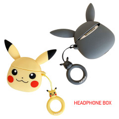 Creative Earphone Case For Airpods 2 Protective Cases 3D Cartoon Pokemon Pikachu Soft Silicone cases