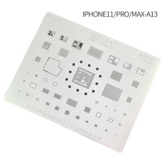 Amaoe iP11 iPhone 11 Pro Max BGA Stencil Reballing A13 CPU RAM Nand Flash IC Chip Solder Tin Plant Net Thickness Heat 0.12mm