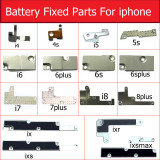 Battery Metal Frame Cover For iphone 4 4s 5 5s 5c se 6 6s 7 8 Plus X XS MAX XR inner Metal Bracket Clip Holder Shield