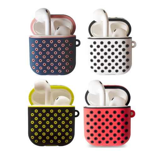 AirPods ProTwo-color honeycomb protective case silicone cases AirPods3 double-layer earphone case cover with buckle