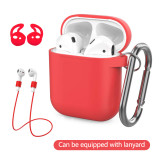 AirPods thick silicone protective sleeve factory direct high-quality AirPods silicone sleeve with hook