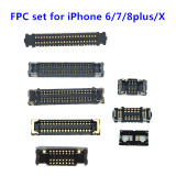 Full FPC Connector Set for iPhone 5S SE 6 plus 6S 7 plus 7 plus 8 plus X Charger Lcd Display Touch FPC Connector Replacement