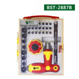 Selling High Quality 34 in 1 Drill Screwdriver Bits Set Multi-functional Repair Tools Kit for Computer and iPhone BST-2887B