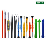 BST-115 15 in 1 Mobile Phone Screen Opening Pliers Repair Tools Kit Screwdriver Pry Disassemble Tool Set for iPhone Samsung
