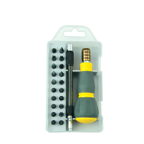 BST-2990A 23PCS in 1 Household Maintenance Suit Screwdriver Collocation Spring Extension Rod And Aluminum Alloy Long Pole