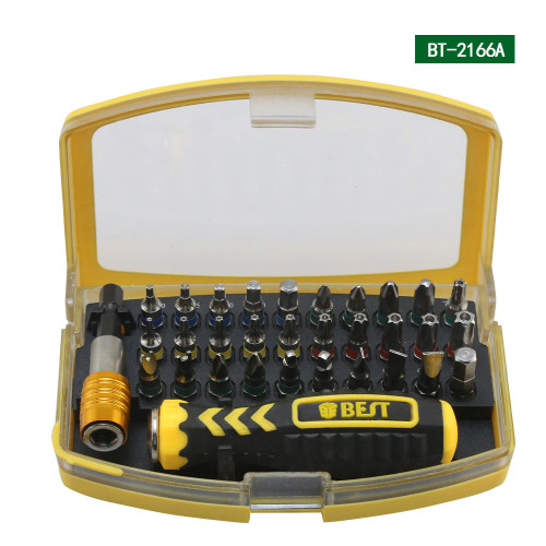 32 in 1 Multifunctional Precision Screwdriver Set For iPhone Laptop Mini Electronic Screwdriver Bits Repair Tools Kit Set BST-2166A