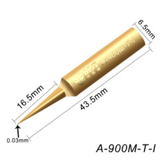 BST-A-900M-T-I Lead Free Fine Soldering Iron Tips High Quality Fly Line Dedicated Pure Copper Precision I IS SK Tips
