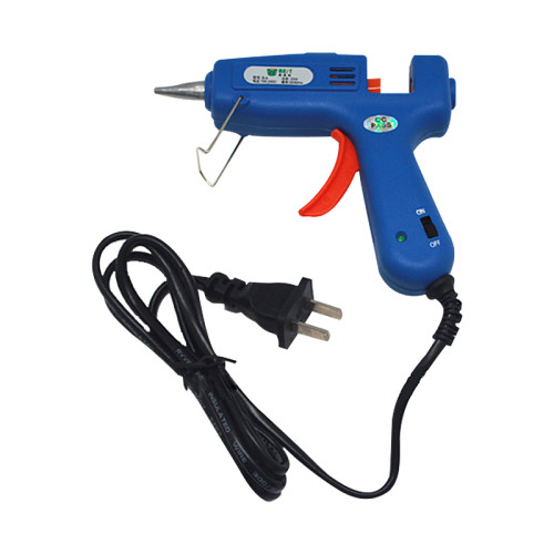 New BEST-B-A 20W 110V-220V blue Hot Melt Glue Gun with 5pcs 7mm*200mm clear Glue sticks