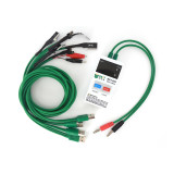 BST-053 Mobile Phone Repair Tools Power Data Cable for iPhone Samsung DC Power Supply Phone Current Test Cable with 4USB Output
