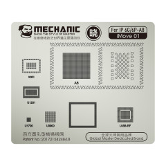 Mechanic iMOVE Series Steel BGA Reballing Stencil Template for iPhone 6 7 8 11 Pro Max Reballing IC Chips Electronic Components
