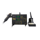 BAKU Double Digital Display SMD Rework Station 2 in 1 Soldering Welding Station With Hot Air Gun And Solder Iron BK-702B