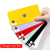 back film PET composite material with metal camera iphone XR / 11 charging film to 11 pro max