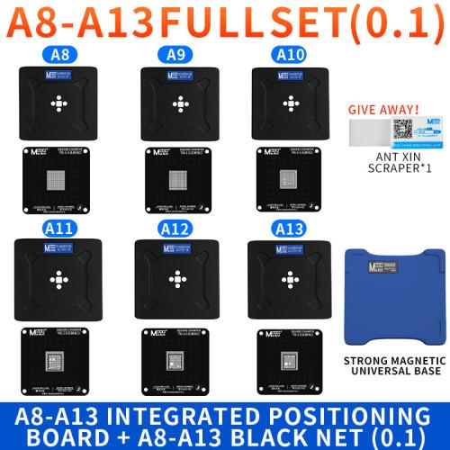 MAANT magnetic  reballing platform for A8-A13 CPU X / 11 PRO MAX set CPU