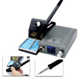 T12-X electric soldering iron adjustable temperature flying lead welding tool household high frequency soldering station