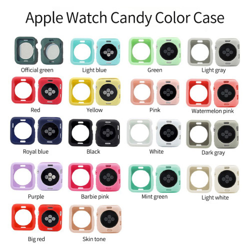Ful cover Silicone protective case for strap watchband for Apple iWatch series 5 4 3 6 40mm 44mm 38mm 42mm