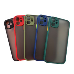 Eye protection contrast color matte texture silicone phone case for  6~12 promax