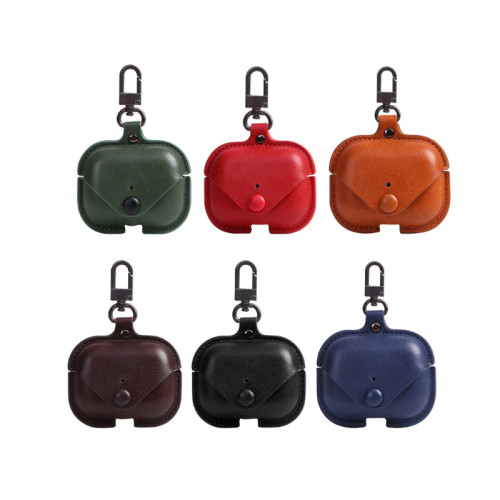 Fashion Leather Button Case For Airpods Pro
