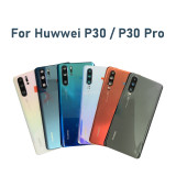 Original New Huawei P30Pro P30 Back Battery Cover Rear Glass back cover with Camera Lens