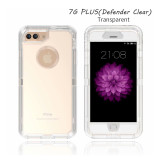 iPhone 6G-12promax defender clear case four-corner shockproof three-in-one transparent phone case