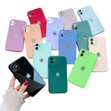 iPhone Silicone tempered glass style phone case
