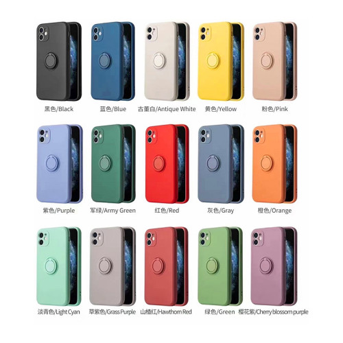 Silicone Case With  Magnetic Ring Holder for iphone 7G - 12 pro max