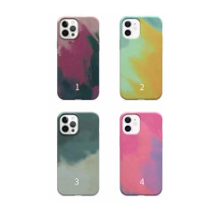 MIKALEN colorful leather case iPhone 11 12 new popular case with magnetic ring compatible with wireless charger