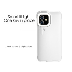 Suitable for iphone12 fill light mobile phone case beauty light selfie live broadcast ring flash mobile phone case protective shell